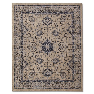 Vintage Distressed Area Rug - 5'x8' - Gray - The Industrial Shop™