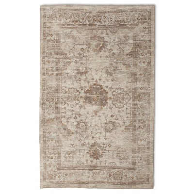 Vintage Distressed Area Rug - 5'x8' - Neutral - The Industrial Shop™