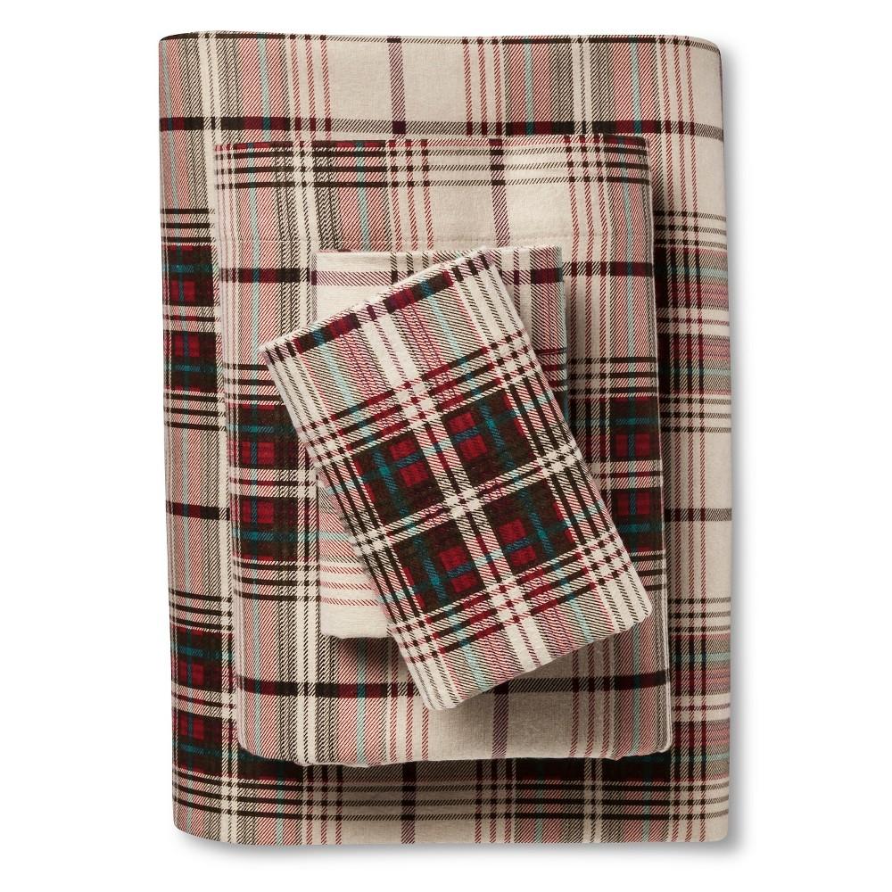 Upc 883893302921 Eddie Bauer Montlake Plaid Flannel Sheet Set Red Queen Upcitemdb Com
