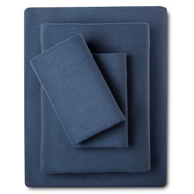 Eddie Bauer® Solid Flannel Sheet Set - Dusted Indigo (Queen)