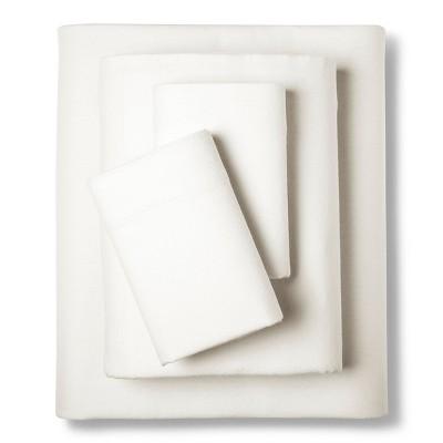 Eddie Bauer® Solid Flannel Sheet Set - Bone (Queen)