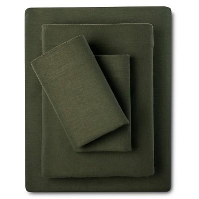Eddie Bauer® Solid Flannel Sheet Set - Hunter Green (Queen)