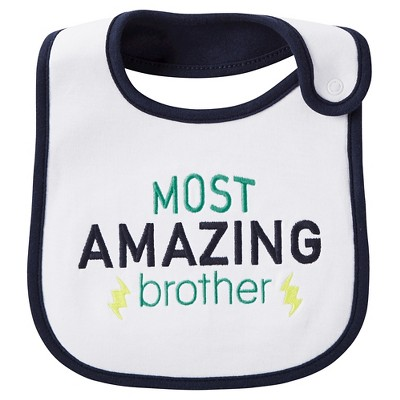 Just One You™Made by Carter's® Newborn Boys' Bib – White