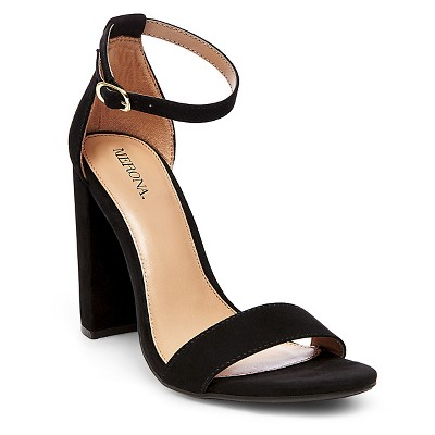 Women's Lulu Block Heel Sandals - Black 9 - Merona™