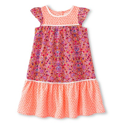 Sun Dresses Basic Sleeve Retro Pink Genuine Kids 3T