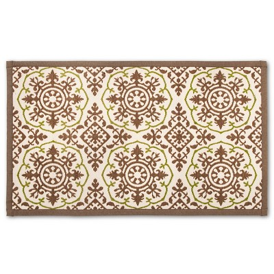 Threshold™ Patterned Comfort Kitchen Mat - Gray/Green