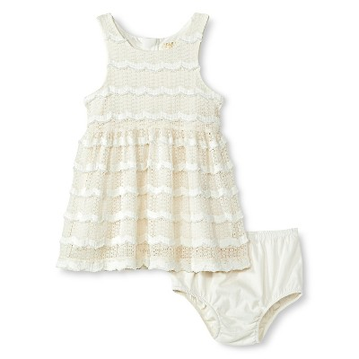 Baby Girls' Sleeveless Lace Sun Dress White 12M - Genuine Kids from Oshkosh™
