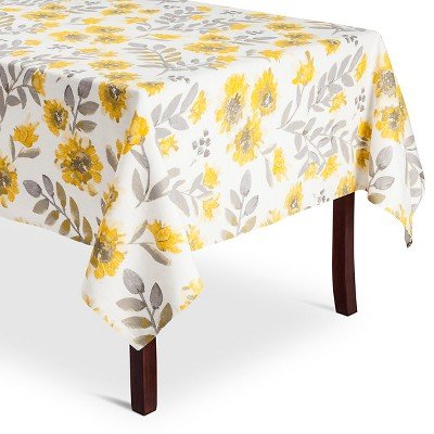 Threshold Yellow Floral Tablecloth 60x120