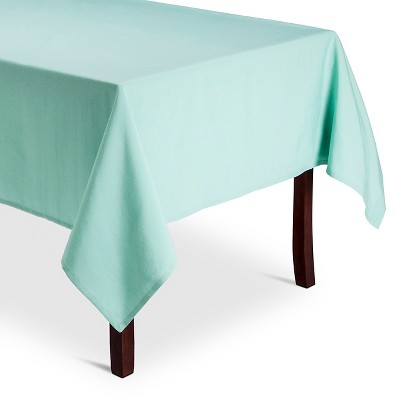 Threshold Solid Aqua Tablecloth 60x104
