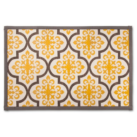 Threshold patterned comfort kitchen mat yello target - Yellow kitchen floor mats ...