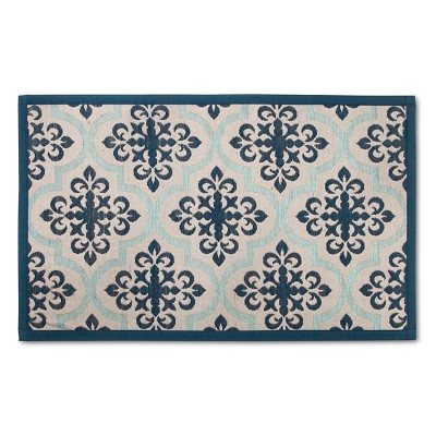 Threshold™ Patterned Comfort Kitchen Mat - Blue