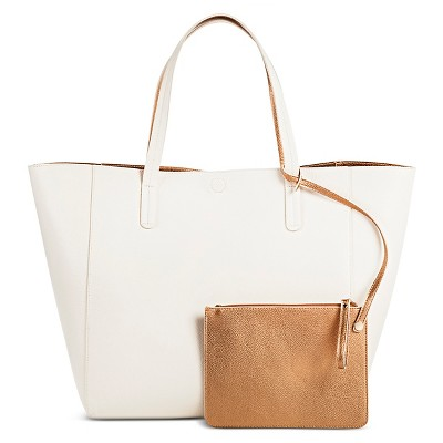 Women's Reversible Tote with Removable Pouch white - Merona™