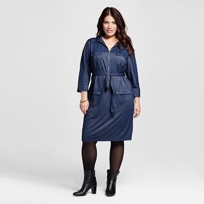 Plus size blue jean dress