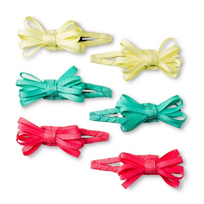 Girls' 4-Pack Loopy Bow Clips/Barrette Multicolored One Size - Cherokee®
