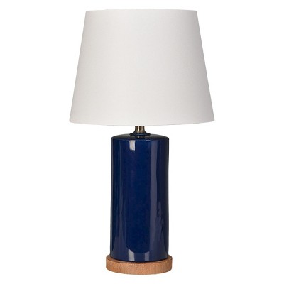 Column Table Lamp Navy - Pillowfort™