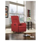 Motion Swivel Recliner Chair Red - Shermag