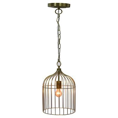 Cage Pendant Ceiling Light Gold - Pillowfort™
