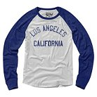 LA Local Pride by Todd Snyder Women's Long Sleeve Baseball T-Shirt Los Angeles - White