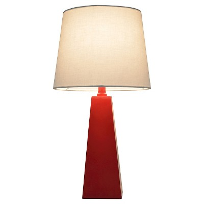 Tapered Table Lamp Red (Includes CFL bulb) - Pillowfort™
