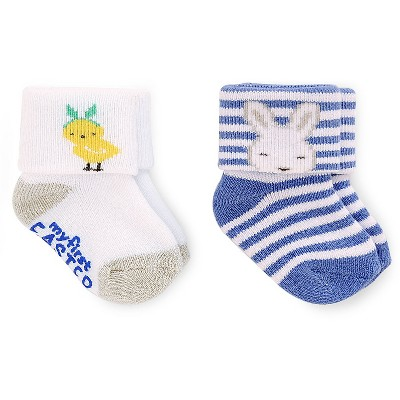 Just One You™ Made by Carter's® Newborn Boys' 2 Pack Terry Cuff Socks - Blue 0-6 M