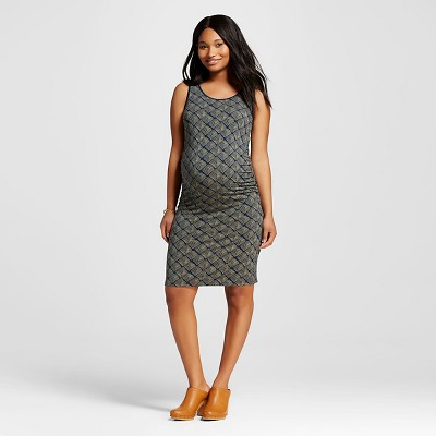 Maternity Geo Print Tank Dress - Healthy Green XL - Liz Lange® for Target
