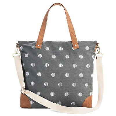 Women's Polka Dot Canvas Tote with removable crossbody strap - Merona™