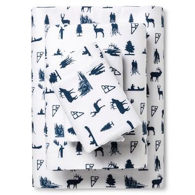 Sheet Set Blue Non-woven Fabric KING Eddie Bauer