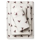 Eddie Bauer® Flannel Sheet Set - Skiers