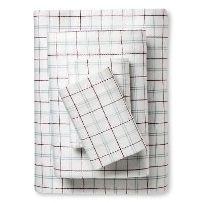 Eddie Bauer® Windowpane Spa Flannel Sheet Set