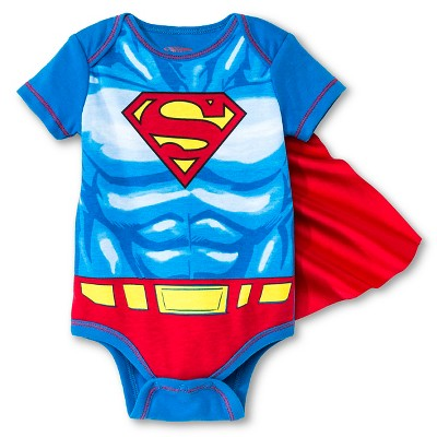 Warner Brothers® Superman Baby Boys' Caped Bodysuit - Blue 0-3 M