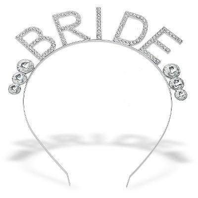 Women's Bridal Rhinestone Headband - Silver