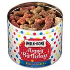 Milk-Bone Happy Birthday Flavor Snacks Dog Biscuits Tin for Small/Medium-sized Dogs - 36 oz