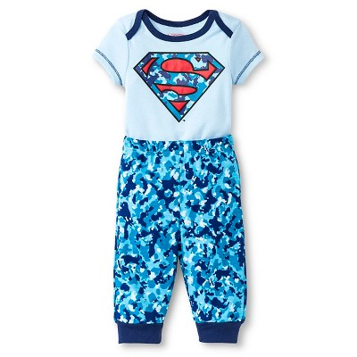 Warner Brothers® Superman Baby Boys' Bodysuit & Jogger Pant Set - Blue 3-6 M
