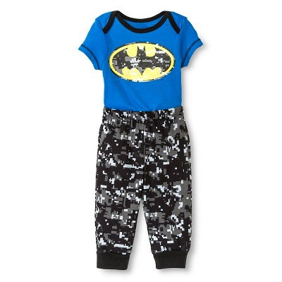 Batman Baby Boys' Bodysuit & Jogger Pant Set - Blue 3-6 M