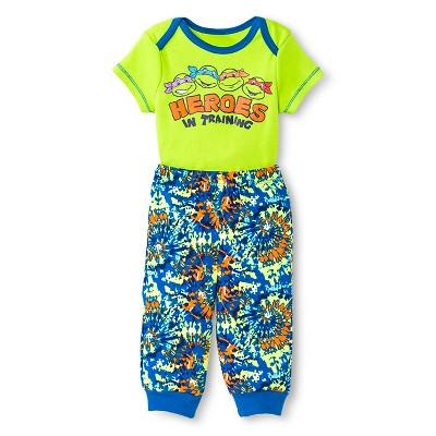 Teenage Mutant Ninja Turtles Baby Boys' Bodysuit & Jogger Pant Set - Green 6-9 M