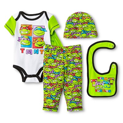 Teenage Mutant Ninja Turtles Baby Boys' 5 Piece Set - Green 0-6 M