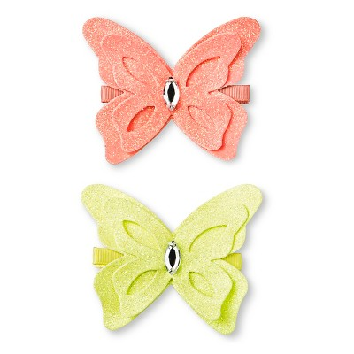 Girls' Butterfly 2-Pack Hair Clip - Multicolored