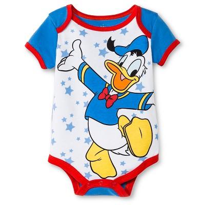 Child Bodysuits Disney Donald Duck Blue 3-6 M