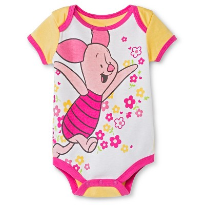 Disney Piglet Newborn Bodysuit - 0-3M Yellow