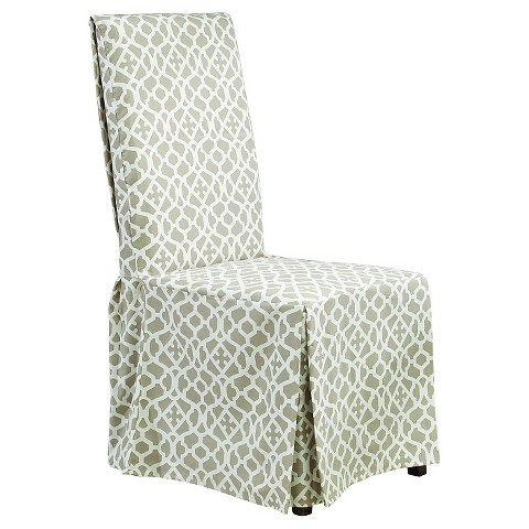 sure fit iron gate long dining room chair slipcover product details