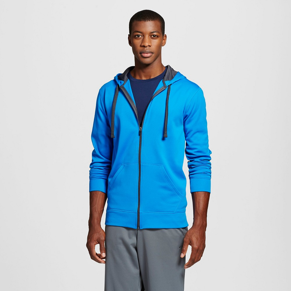 Men's Tall Tech Fleece Full Zip Hoodie Blue MT - C9 Champion, Size: M Tall, Blue Brilliance