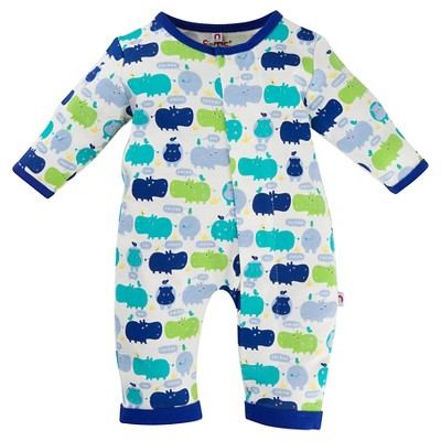 E=MC2 Baby Magnetic Union Bodysuit - Blue 3-6M