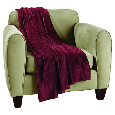 Sure Fit Plush Lap Throw - Sangria (50 x60 )