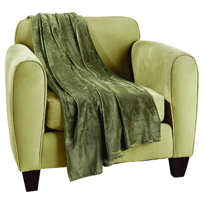 "Sure Fit Plush Lap Throw - Loden (50""x60"")"