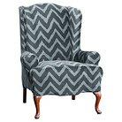 Sure Fit Plush Chevron Wing Chair Slipcover