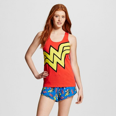 Female Pajama Sets Warner Bros. Red M
