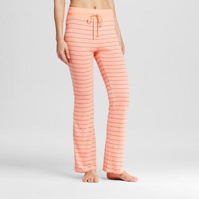 Women's Knit Sleep Pant Peach Stripe L - Xhilaration™
