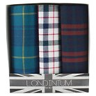 The British Belt Co. Men's 3 Pk Milton Plaid Handkerchief Set