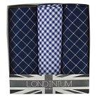 The British Belt Co. Men's 3 Pk Blyton Check Handkerchief Set