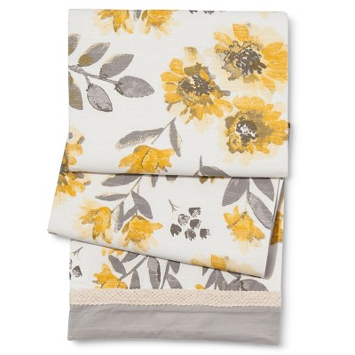 "Yellow Floral Runner - 72"" - Threshold™"
